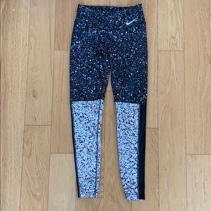 Nike Dri-Fit ONE Legend Pant B/W Speckled (S)
